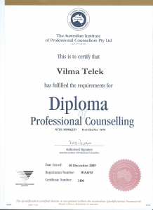 Vilma diploma Counselling